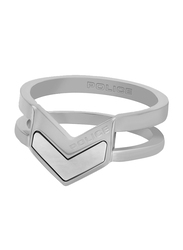 Police Javelin Stainless Steel Stacking Ring for Women, Silver, EU 56