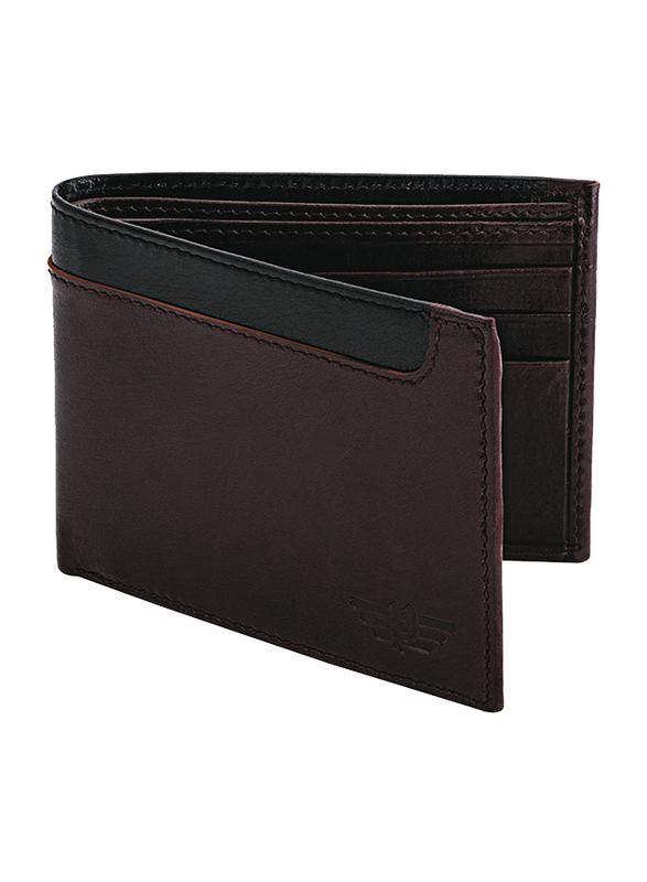 Police Element Leather Bi-Fold Wallet for Men, Brown