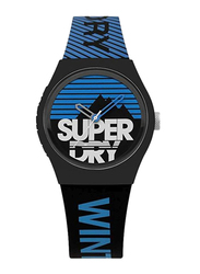 Superdry Urban Ski Analog Silicon Watch for Men, Water Resistant, Black/Blue, T SDWSYG255EU