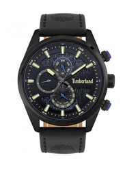 Timberland Ridgeview Leather Genuine Watch for Men, Water Resistant with Chronograph, Black, T TBL15953JSB-02