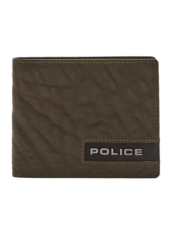 Police Droid Leather Bi-Fold Wallet for Men, Green