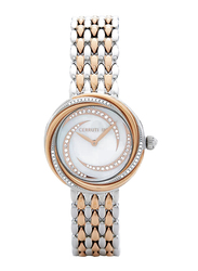 Cerruti 1881 Rieti Analog Watch for Women with Stainless Steel Band, Water Resistant, C CRWM159, Rose Gold/Sliver-White
