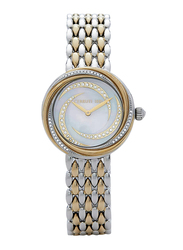 Cerruti 1881 Rieti Analog Watch for Women with Stainless Steel Band, Water Resistant, C CRWM159, Gold/Sliver-White