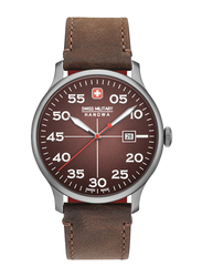 Swiss Military Hanowa Active Duty Analog Watch for Men with Leather Band, Water Resistant, W S6-4326.30.005, Dark Brown