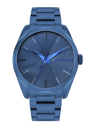 Police Raglan Analog Watch for Men with Stainless Steel Band, Water Resistant, P 15712JS, Blue