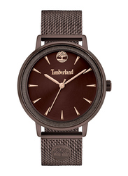 Timberland Esmond Analog Watch for Women with Stainless Steel Band, Water Resistant, T TBL15961MY, Brown