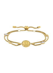 Police Serrania Gold Plated Stainless Steel Chain Bracelet for Women, Gold