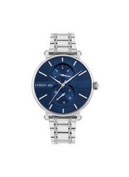 Cerruti 1881 Scorrano Analog Stainless Steel Watch for Men, Water Resistant, Silver-Blue, C CRWA26006