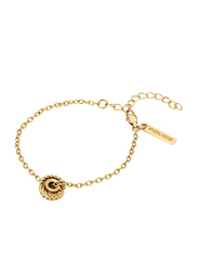Police Trundle Metal Chain Bracelet for Women, Gold Plated
