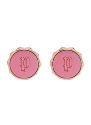 Police Senja Stainless Steel Stud Earrings for Women, Rose Gold