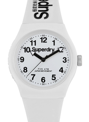 Superdry Urban Analog Watch Unisex with Rubber Band, Water Resistant, T SDWSYG164WW, White