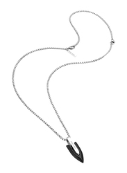 Police Aerohead Stainless Steel Pendant Necklace for Men, Silver