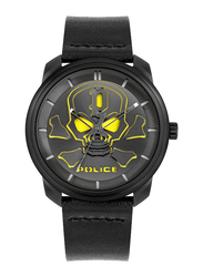 Police Bleder Analog Watch for Men with Leather Band, Water Resistant, P 15714JS, Black