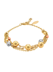 Police Gold Plated Stainless Steel Multi-Strand Bracelet for Women, Gold