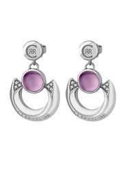 Cerruti 1881 Silver Drop & Dangle Earrings for Women with Beads Stone, Silver