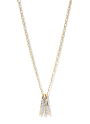 Cerruti 1881 Gold Plated Stainless Steel Necklace for Women with Diamond Stone and Infinity Motif Pendant, Gold