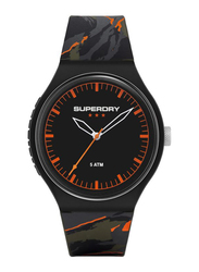 Superdry Urban Xl Camo Pop PC21 Analog Watch for Men with Silicone Band, Water Resistant, T SDWSYG270, Grey