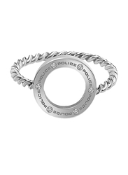 Police Fashion Ring for Women, Silver, EU 54