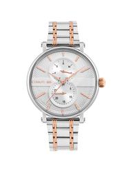Cerruti 1881 Scorrano Analog Stainless Steel Watch for Men, Water Resistant, Silver/Rose Gold-Silver, C CRWA26004