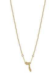 Agatha Stainless Steel Necklace for Women with Cubic Zirconia Stone and Arabic Number 6 Pendant, Gold
