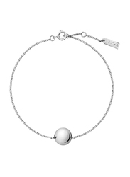 Agatha Sterling Silver Chain Bracelet for Women with Ball, Silver
