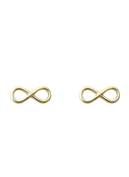 Agatha Sterling Silver Infinity Stud Earrings, Gold