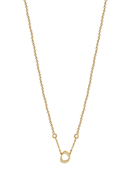 Agatha Stainless Steel Necklace for Women with Cubic Zirconia Stone and Arabic Number 5 Pendant, Gold