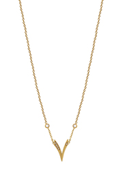 Agatha Stainless Steel Necklace for Women with Cubic Zirconia Stone and Arabic Number 7 Pendant, Gold