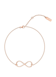 Agatha Sterling Silver Chain Bracelet for Women with Infinity Symbol, Rose Gold