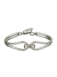 Agatha Brass Small Articulated Bracelet for Women, Silver