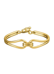 Agatha Brass Small Articulated Bracelet for Women, Gold