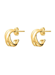 Agatha Brass Mini Hoop Earrings for Women, Gold