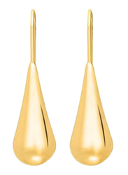 Agatha Bras Long Drop Earrings for Women, Gold