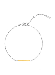 Agatha Stainless Steel Bar Chain Bracelet for Women, Silver/Gold