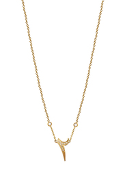 Agatha Stainless Steel Necklace for Women with Cubic Zirconia Stone and Arabic Number 2 Pendant, Gold