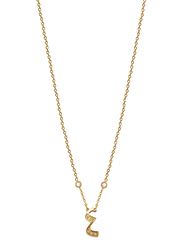 Agatha Stainless Steel Necklace for Women with Cubic Zirconia Stone and Arabic Number 4 Pendant, Gold