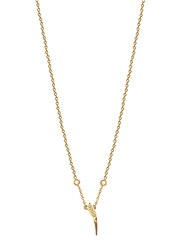 Agatha Stainless Steel Necklace for Women with Cubic Zirconia Stone and Arabic Number 1 Pendant, Gold