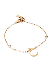 Agatha Stainless Steel Chain Bracelet for Women with Cubic Zirconia Stone, Gold