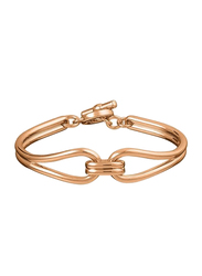 Agatha Brass Small Articulated Bracelet for Women, Rose Gold