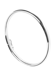 Agatha Sterling Silver Bangle for Women, Silver