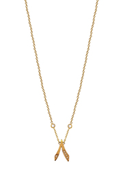 Agatha Stainless Steel Necklace for Women with Cubic Zirconia Stone and Arabic Number 8 Pendant, Gold