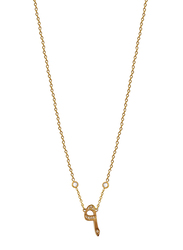 Agatha Stainless Steel Necklace for Women with Cubic Zirconia Stone and Arabic Number 9 Pendant, Gold