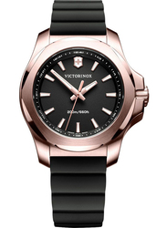 Victorinox Swiss Army I.N.O.X. V Analog Watch for Women with Rubber Band, Water Resistant, 241808, Black
