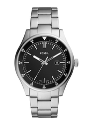 Fossil Belmar Analog Watch for Men with Stainless Steel Band, Water Resistant, FS5530, Silver-Black