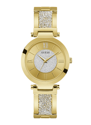 Guess Analog Quartz Watch for Women with Stainless Steel Band, Water Resistant, W1288L2, Gold