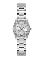 Guess Analog Quartz Watch for Women with Stainless Steel Band, Water Resistant, W1273L1, Silver