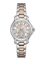 Guess Collection ClassicChic Analog Watch for Women with Stainless Steel Band, Water Resistant, X98003L1S, Silver-White/Silver