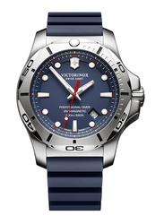 Victorinox Swiss Army I.N.O.X. Professional Diver Analog Watch for Men with Rubber Band, Water Resistant, 241734, Blue