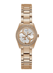 Guess Analog Quartz Watch for Women with Stainless Steel Band, Water Resistant, W1273L3, Rose Gold-Silver