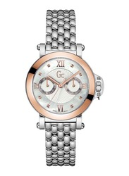 Guess Collection Femme Bijou Analog Watch for Women with Stainless Steel Band, Water Resistant, X40004L1S, Silver-White